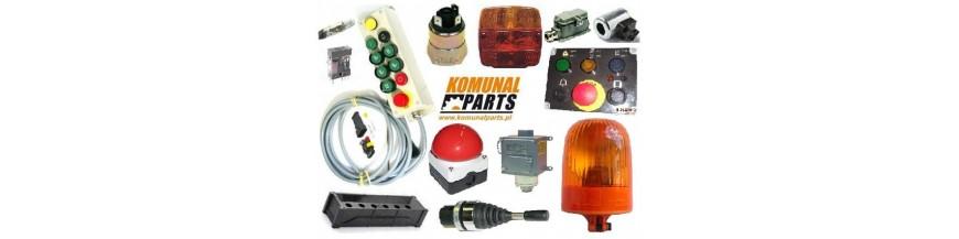 Podzespoły i części do instalacji elektrycznej.