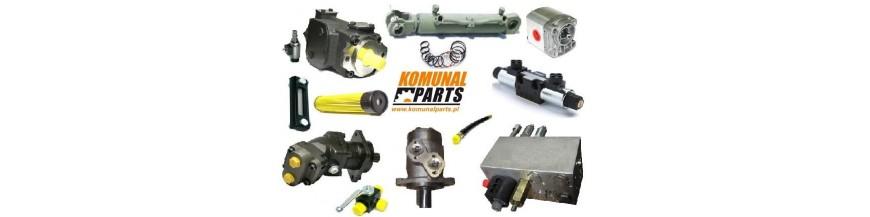 Podzespoły i części do instalacji hydraulicznej.