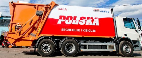 KOMUNAL TRUCK śmieciarka NTM KG Oklejona na EURO 2012 CAŁA POLSKA SEGREGUJE I KIBICUJE