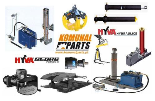 Komunal Parts HYVA produkty części zamienne pompy hydrauliczne siłowniki wywrotu rozdzielacze zbiorniki olejowe