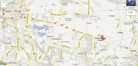Komunal Truck mapa dojazdu Siemianowice Krupanka 83 trasa E94