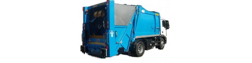 Części zamienne, materiały do myjki - śmieciarkomyjki służącej do mycia pojemników na śmieci.