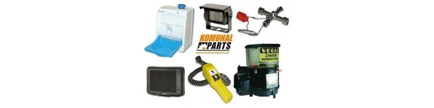 OPCJE – Dodatkowe wyposażenie do zabudowy myjki pojemników lub śmieciarko-myjki